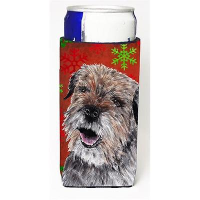 Border Terrier Red Snowflake Christmas Michelob Ultra bottle sleeves For Slim...