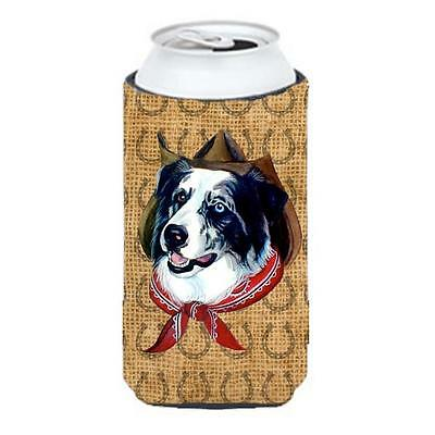 Australian Shepherd Dog Country Lucky Horseshoe Tall Boy bottle sleeve Hugger...