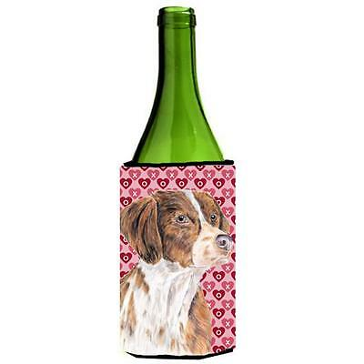 Brittany Hearts Love and Valentines Day Portrait Wine bottle sleeve Hugger