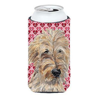 Goldendoodle Valentines Love Tall Boy bottle sleeve Hugger 22 to 24 oz.