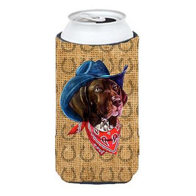 German Shorthaired Pointer Dog Country Lucky Horseshoe Tall Boy bottle sleeve...
