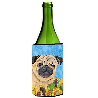 Carolines Treasures SC9068LITERK Pug Wine bottle sleeve Hugger 24 oz.
