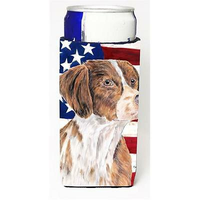 USA American Flag with Brittany Michelob Ultra s for slim cans