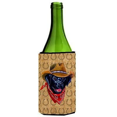Labrador Dog Country Lucky Horseshoe Wine bottle sleeve Hugger 24 oz.