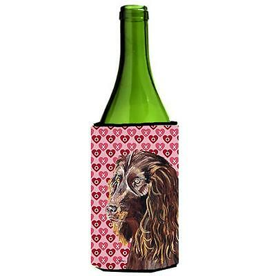 Boykin Spaniel Valentines Love Wine bottle sleeve Hugger 24 oz.
