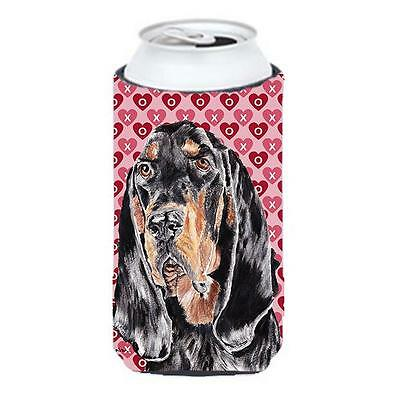 Coonhound Valentines Love Tall Boy bottle sleeve Hugger 22 to 24 oz.