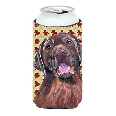 Labrador Chocolate Fall Leaves Portrait Tall Boy bottle sleeve Hugger 22 To 2...