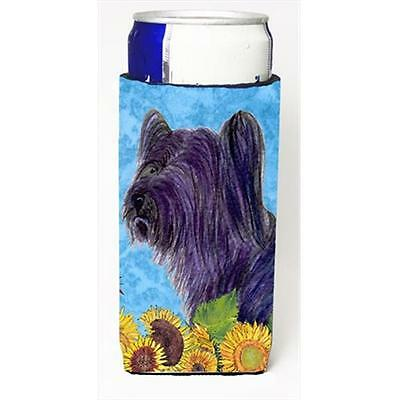 Skye Terrier In Summer Flowers Michelob Ultra bottle sleeves For Slim Cans 12...