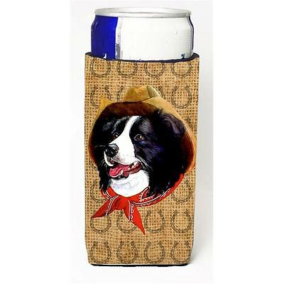 Border Collie Dog Country Lucky Horseshoe Michelob Ultra bottle sleeves For S...