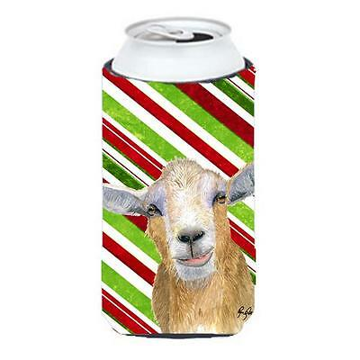 Candy Cane Goat Christmas Tall Boy bottle sleeve Hugger 22 to 24 oz.