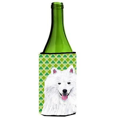 American Eskimo St. Patricks Day Shamrock Portrait Wine bottle sleeve Hugger ...