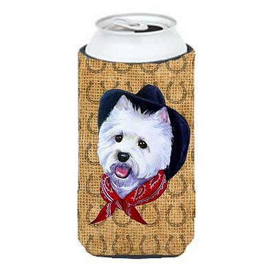 Westie Dog Country Lucky Horseshoe Tall Boy bottle sleeve Hugger