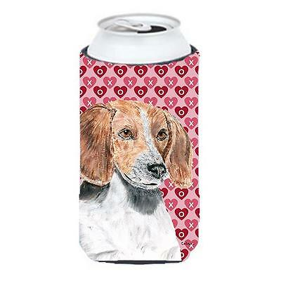 English Foxhound Valentines Love Tall Boy bottle sleeve Hugger 22 to 24 oz.