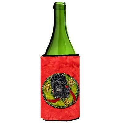 Carolines Treasures Affenpinscher Cristmas Wreath Wine bottle sleeve Hugger