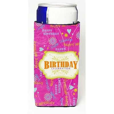 Happy Birthday Pink Michelob Ultra bottle sleeves For Slim Cans 12 oz.