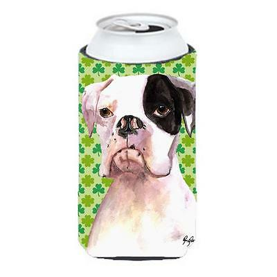Carolines Treasures Cooper St Patricks Day Boxer Tall Boy bottle sleeve Hugger