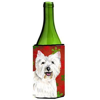 Carolines Treasures Westie Snowflakes Holiday Christmas Wine Bottle Hugger