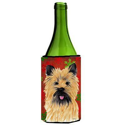 Cairn Terrier Snowflakes Holiday Christmas Wine Bottle Hugger