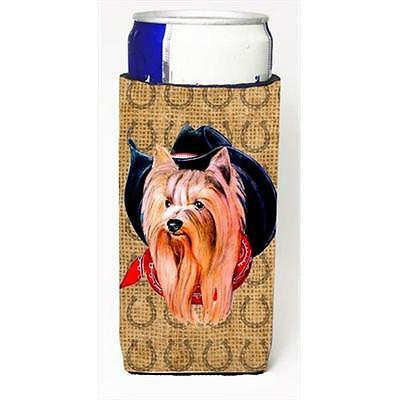 Yorkie Dog Country Lucky Horseshoe Michelob Ultra bottle sleeves For Slim Cans