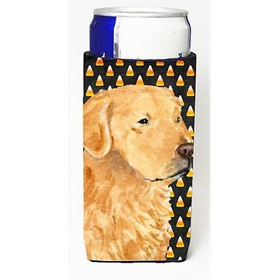 Golden Retriever Candy Corn Halloween Portrait Michelob Ultra bottle sleeves ...
