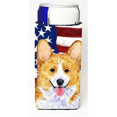 Usa American Flag With Corgi Michelob Ultra bottle sleeve for Slim Can