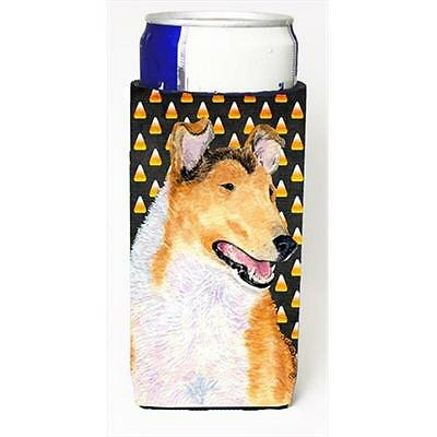 Collie Smooth Candy Corn Halloween Portrait Michelob Ultra bottle sleeves For...