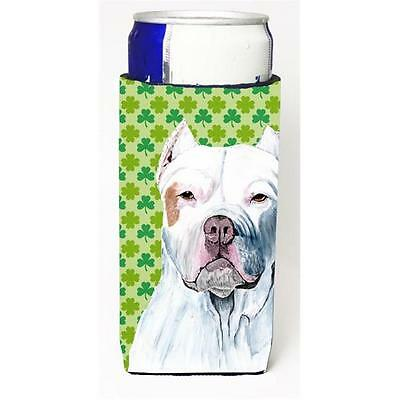 Pit Bull St. Patricks Day Shamrock Portrait Michelob Ultra bottle sleeves For...