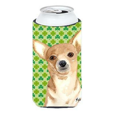 Chihuahua St Patricks Day Tall Boy bottle sleeve Hugger 22 to 24 oz.