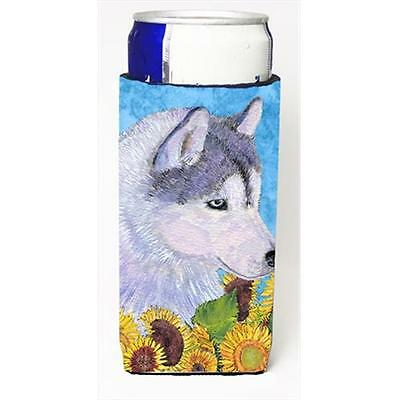 Siberian Husky In Summer Flowers Michelob Ultra bottle sleeves For Slim Cans ...