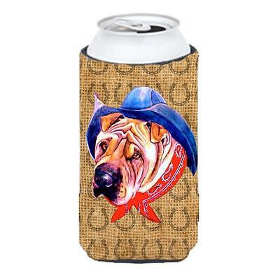 Shar Pei Dog Country Lucky Horseshoe Tall Boy bottle sleeve Hugger