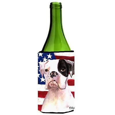 Carolines Treasures Cooper Usa American Flag Boxer Wine bottle sleeve Hugger • AUD 48.26