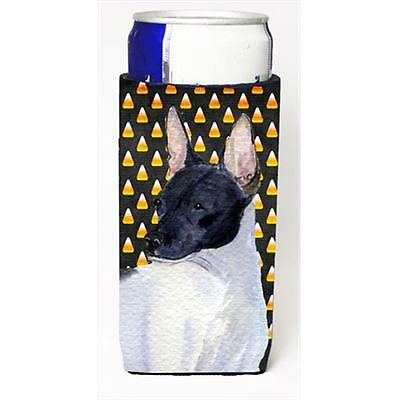 Rat Terrier Candy Corn Halloween Portrait Michelob Ultra bottle sleeves For S...