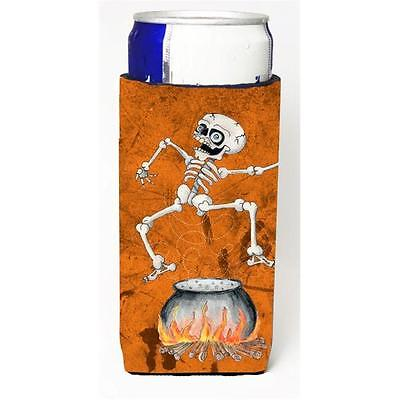 Skeleton Jumping From Witches Caldron Halloween Michelob Ultra bottle sleeves...