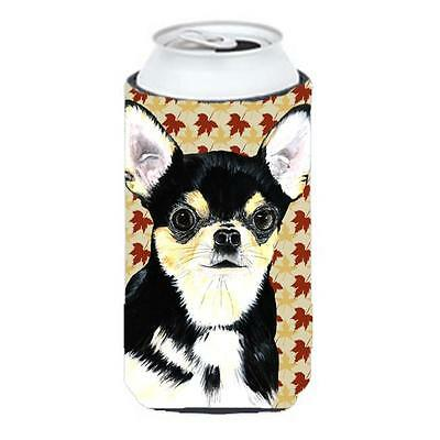 Carolines Treasures Chihuahua Fall Leaves Portrait Tall Boy bottle sleeve Hugger