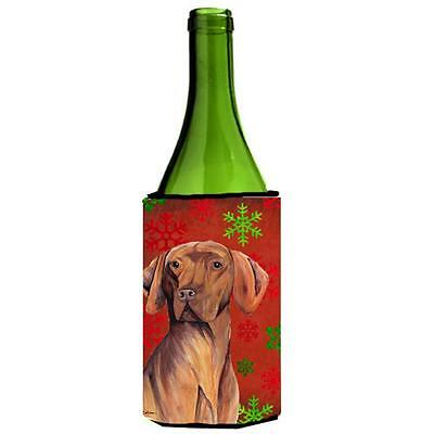 Carolines Treasures Vizsla Snowflakes Holiday Christmas Wine Bottle Hugger