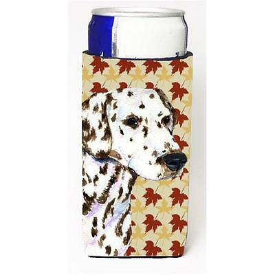 Dalmatian Fall Leaves Portrait Michelob Ultra bottle sleeves for slim cans 12...
