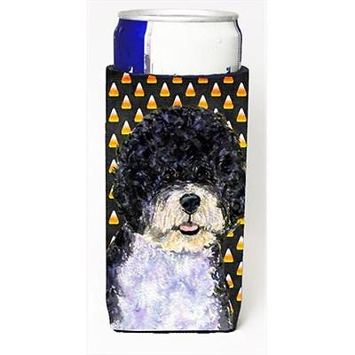 Portuguese Water Dog Candy Corn Halloween Portrait Michelob Ultra bottle slee...