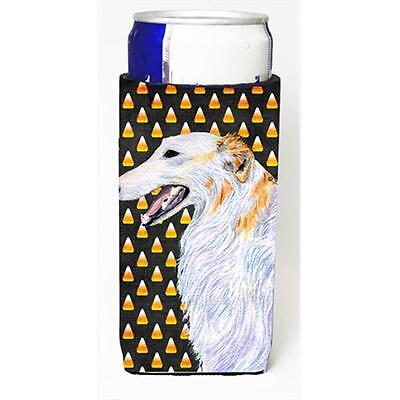 Borzoi Candy Corn Halloween Portrait Michelob Ultra bottle sleeves For Slim C...