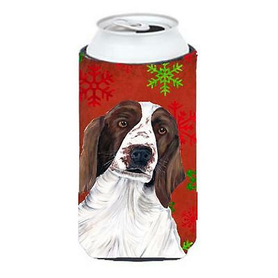 Welsh Springer Spaniel Snowflakes Holiday Christmas Tall Boy Hugger