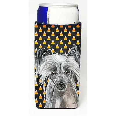 Chinese Crested Halloween Candy Corn Michelob Ultra bottle sleeve for Slim Can