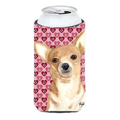 Chihuahua Love and Hearts Tall Boy bottle sleeve Hugger 22 to 24 oz.