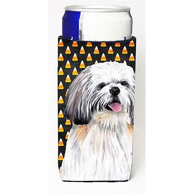Shih Tzu Candy Corn Halloween Portrait Michelob Ultra s for slim cans