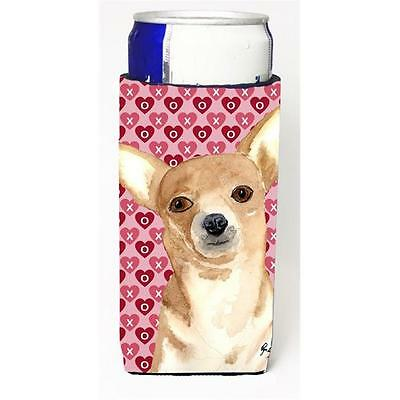 Chihuahua Love and Hearts Michelob Ultra bottle sleeves for slim cans 12 oz.