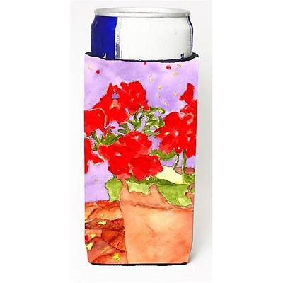 Carolines Treasures Flower Geranium Michelob Ultra bottle sleeve for Slim Can