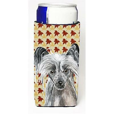 Chinese Crested Fall Leaves Michelob Ultra bottle sleeves for slim cans 12 oz.