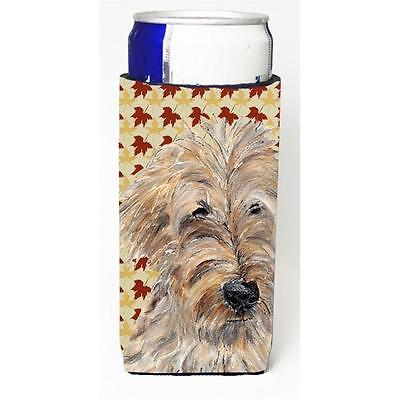 Goldendoodle Fall Leaves Michelob Ultra bottle sleeves for slim cans 12 oz.