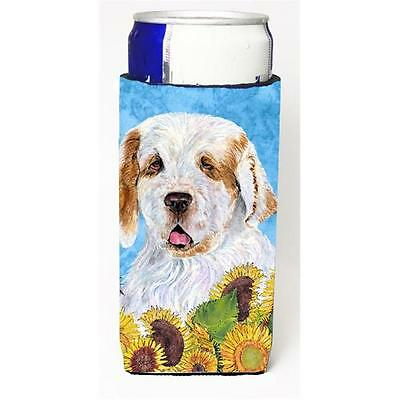 Clumber Spaniel In Summer Flowers Michelob Ultra bottle sleeves For Slim Cans...
