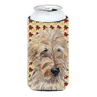 Goldendoodle Fall Leaves Tall Boy bottle sleeve Hugger 22 to 24 oz.