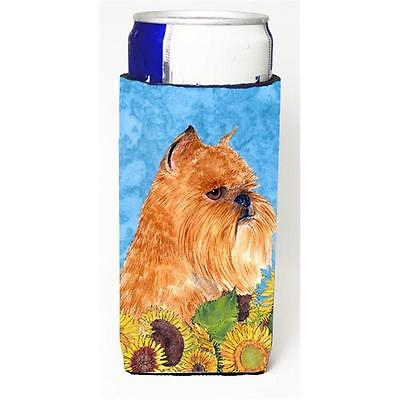 Brussels Griffon In Summer Flowers Michelob Ultra bottle sleeves For Slim Can...