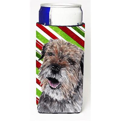 Border Terrier Candy Cane Christmas Michelob Ultra bottle sleeves For Slim Ca... • AUD 47.47